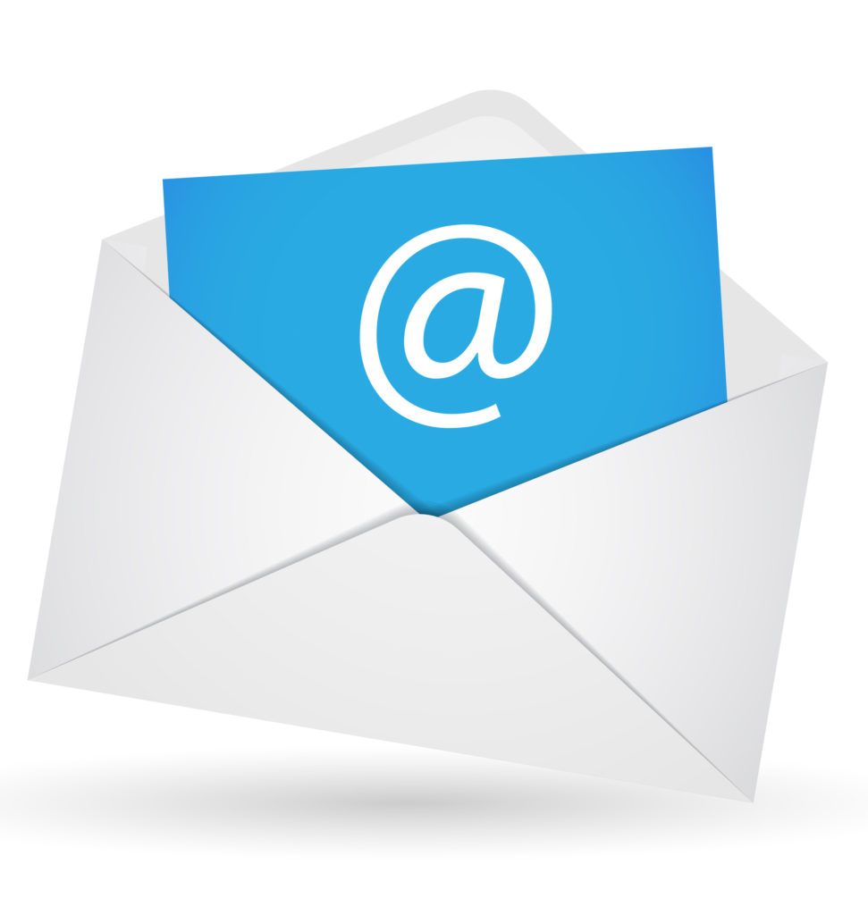 Email envelope illustration on a white background